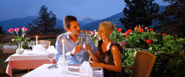 Romantic dinner on our terrace | Granpanorama Hotel StephansHof ****